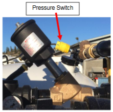 pressure switch on vacuum intake valve