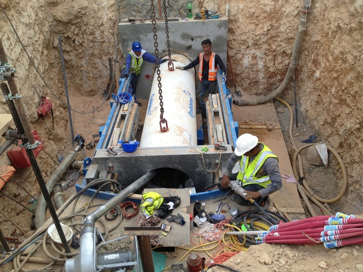 tunneling machine with inline vac system woking in Phillipines