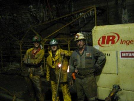 underground miners by compressor