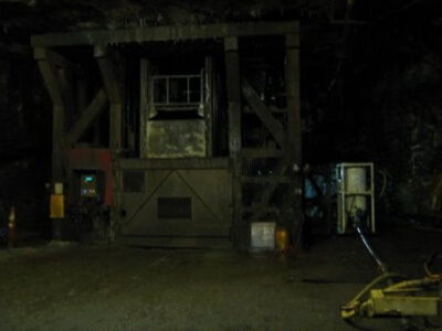 underground mine with pv500 and industrial equipment
