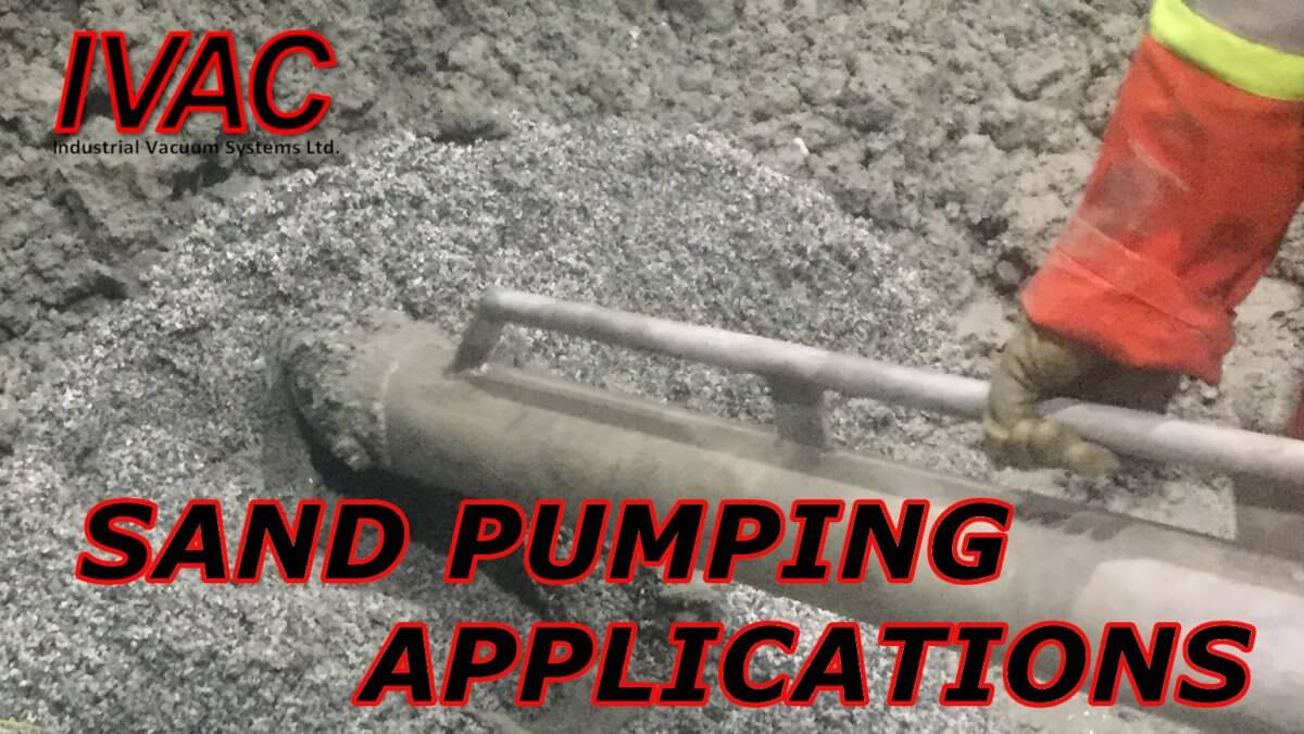 sand pumping application in cement factory